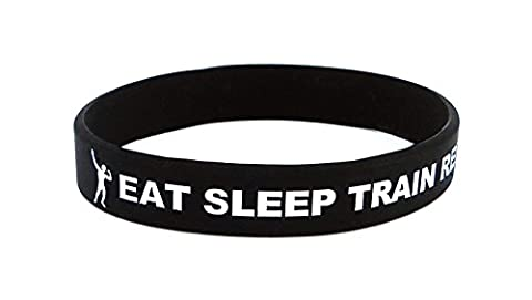 Fitness and Bodybuilding Sportwristband Eat Sleep Train Repeat Training Workout