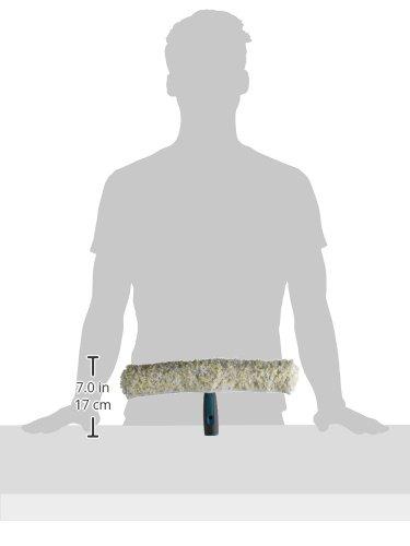 Leifheit 59110 Aspiradora limpiacristales, poliéster, Blanco, Amarillo, 35cm
