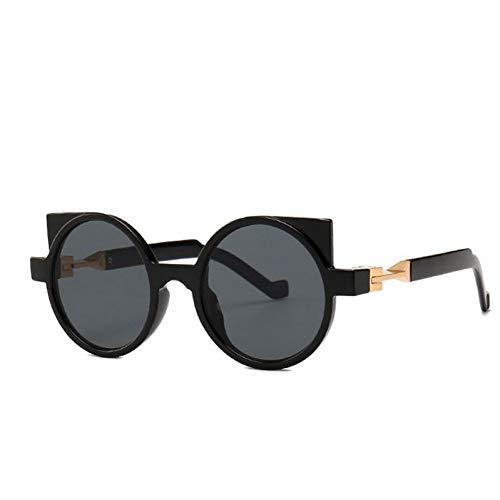 HYUHYU New Retro Runde Sonnenbrille Frauen Markendesigner Geometrischen Rahmen Cat Eye Sonnenbrille Männer Mode Weibliche Große Shades Eyewear