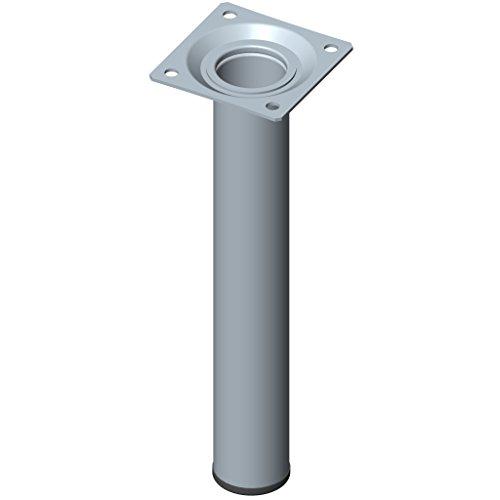 Preisvergleich Produktbild Element System 11100–00172200mm Länge 30mm Durchmesser rund Rohr Möbel Beine auch Anschraubplatte–Edelstahl Optik