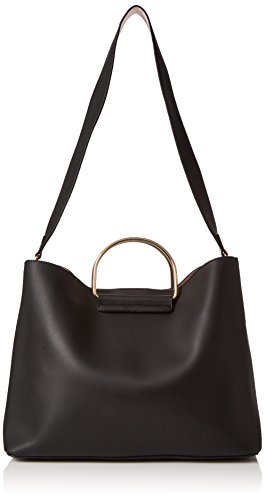 Dorothy-Perkins-Womens-Metal-Handle-Shopper-Shoulder-Bag-Black-Black