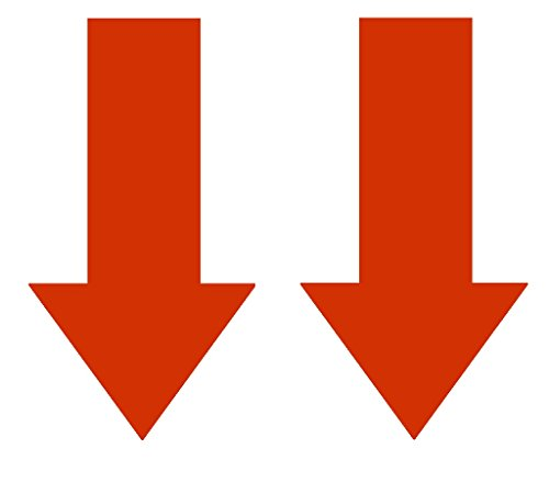 2x Abschlepphaken Pfeil Hochglanz hell rot passend für Rally, Viper 4 cm x 8 cm