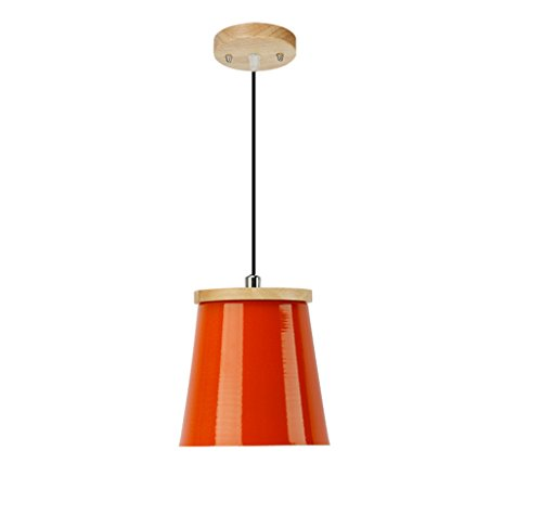 Lamp LU Restaurant Droplight Shade Single Head Personnalité Créative Couleur Lumineuse Petite Suspension Bureau (Couleur : Orange)