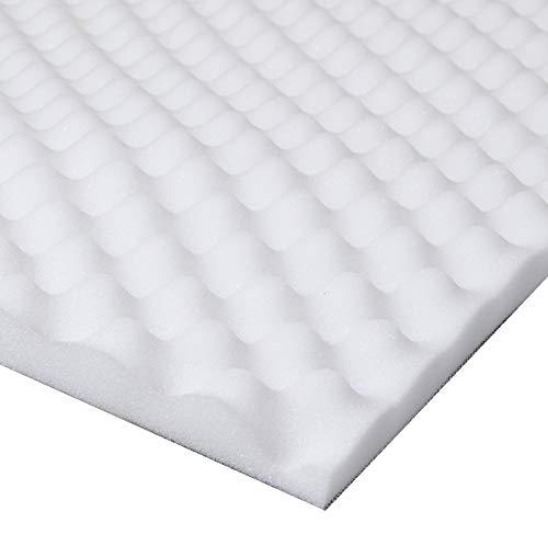 Lancashire Textiles Cubrecolchón para aliviar el Dolor de Espalda (Espuma), diseño en Relieve, Poliuretano, Blanco, Matrimonio