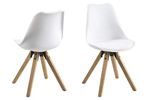 Amazon Marke -Movian Tima - Set mit 2 Esszimmerstühlen, Weiß