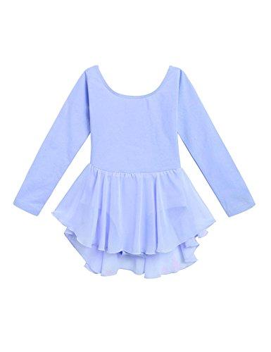 Ceanfly Kinder Ballettanzug/Balletttrikot mit luftigem Chiffon Röckchen. Süßes -