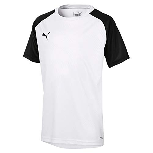 Puma Kinder Cup Training Jersey Core Trainingsshirt, White Black, 128 -