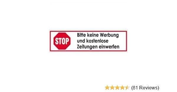 Briefkasten Aufkleber Stop Keine Werbung Keine Zeitungen Sticker