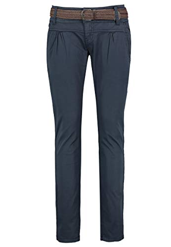 Urban Surface Damen Chino Stoff-Hose mit Flecht-Gürtel Blue L