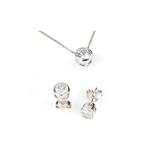 completo-collana-e-orecchini-punto-luce-in-argento-rodiato-oro-bianco-18-kt-argento-925