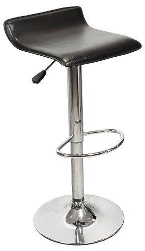 black-oblate-bar-stool