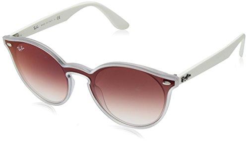 Ray-Ban Unisex-Erwachsene 0RB4380N 6357V0 37 Sonnenbrille, Matte Transparent/Cleargradientredmirrorred,