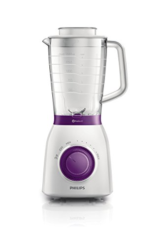 Philips Viva Collection HR2163/00 - Licuadora (2 L, Batidora de vaso, Violeta, Blanco, 1 m, De plástico, Polipropileno)