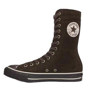 Converse Unisex Schuhe Chucks Stiefel Ct All Star Knee Hi Braun 111514 Wild Leder Fell 35 - Stiefel Converse