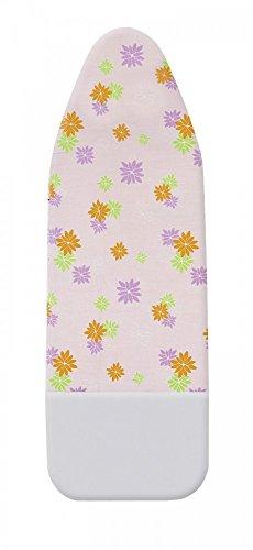 WENKO Bügelbrettbezug Comfort 127 x 45 cm Parkzone rosa Blumen Gegenbügeleffekt