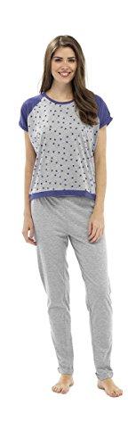 Set Pyjama Imprimé Star à manches courtes pour femme Blanc - Gris