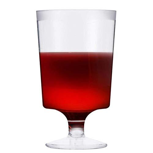 50 Piezas Copas de Vino de Plástico Desechables, Transparente 180ml - Elegante, Resistente y Reutilizable - Perfecto para Catering Fiestas Cumpleaños Bodas Navidad Año Nuevo.