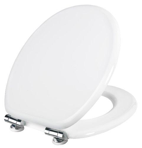Cornat WC-Sitz MOLINOS weiß / Toilettensitz / Toilettendeckel / Klodeckel / WC-Deckel / Absenkautomatik / Holzkern (MDF) / KSMOL00