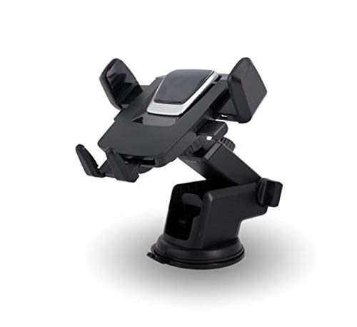 CQLEK® Multipurpose Car Mobile Phone Holder - Quick Stand Technology 360 Degree Rotation with Ultimate Reusable Suction Cup Mount for Car Dashboard/Windshield