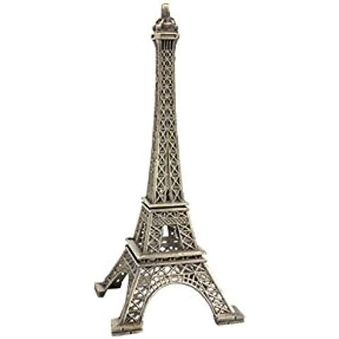 Torre Eiffel in miniatura, in metallo, dimensioni: 5,5 x 5,5 x 13 cm