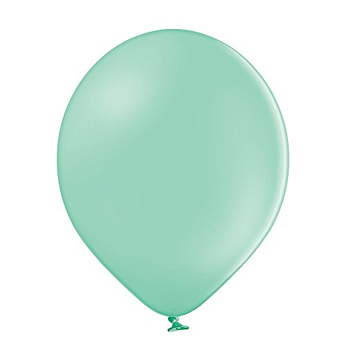 30 cm | Freie Farbauswahl | 23 Ballon Farben | partydiscount24® (Mintgrün) (Blaue Und Gelbe Luftballons)