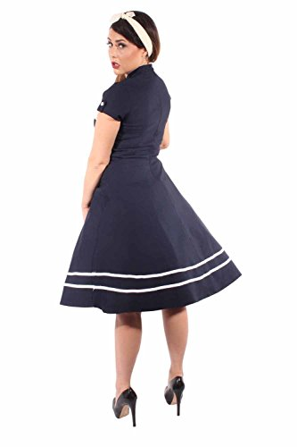 Pin Up SAILOR Retro rockabilly Bolero SWING Kleid Petticoatkleid - 6