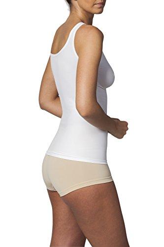 Sleex Figurformendes Damen Unterhemd (mit Support) (44041) Weiss (White)