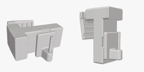 2 Stück Vario Klemmträger für Vitragen / Scheibengardinenstangen, Montage direkt am Fensterrahmen , ohne Kleben und Bohren