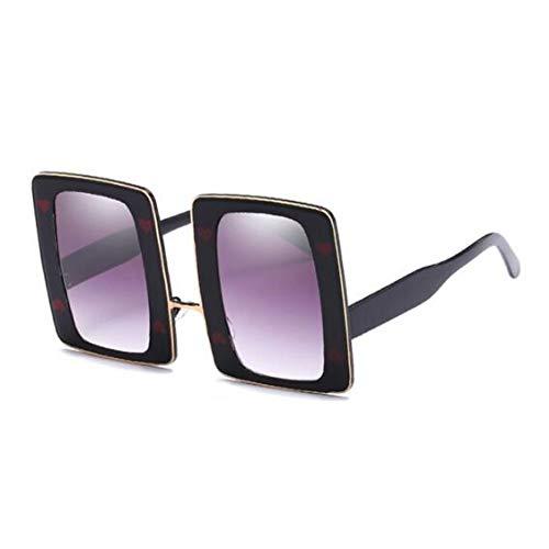 LIUYAWEI Übergroße quadratische Sonnenbrille Frauen Vintage Einzigartige Designer Große Poker Sonnenbrille Für Frauen Dekoration Hippie Brille UV400