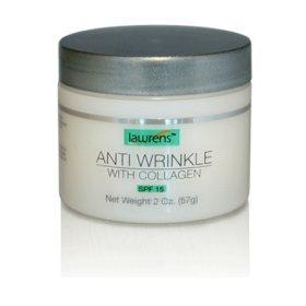 Anti Wrinkle Anti Aging w/ Collagen Spf 15 Cream 2 Oz by Lawrens