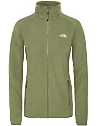 The North Face 100 Glacier Full Zip Chaqueta, Mujer, Four Leaf Clover, L