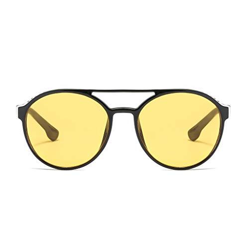 QUINTRA Sonnenbrille Unisex Vintage Runde Cat Eye Shade Sonnenbrille Integrierte Qualitätsbrille
