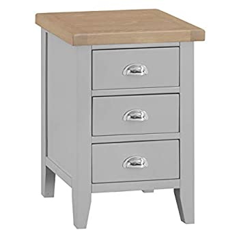 The Furniture Outlet Suffolk Grey Painted Oak Large Bedside Table