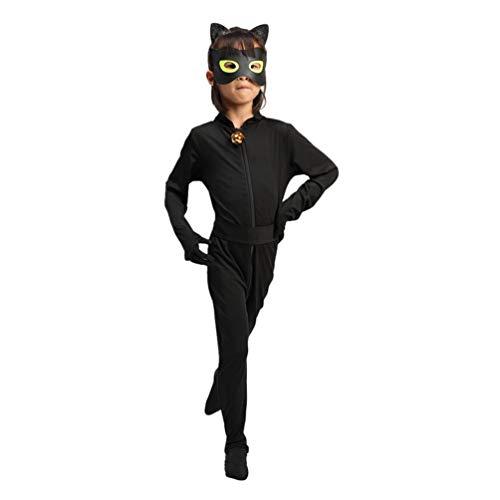 Mingdoo Ladybug Mädchen Erwachsene Marienkäfer Kostüm Katzenanzug für Cosplay Halloween Karneval Overall - Katze Junge, 130
