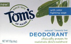 Tom's of Maine Natural Deodorant Bar Soap (Pack of 6) 120 ml