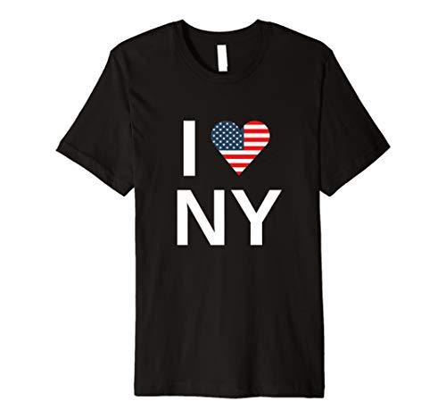 I Love NY New York Amerika Herz Flagge T-Shirt