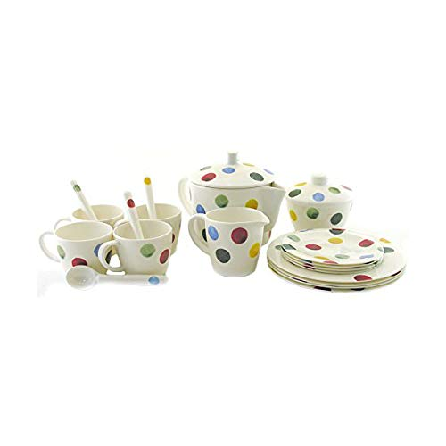 Emma Bridgewater Polka Dot Melamine in House Tea Set, Multi, 250 x 160 x 200 cm