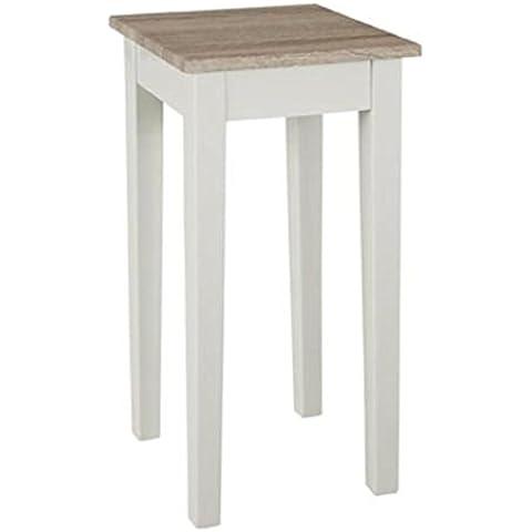 Consola madera DM, estructura en blanco brillante, bandeja roble claro (roble Sonoma), Haku 51244