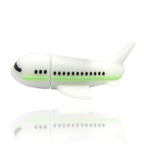 818-Shop No18900080032 USB-Sticks (32 GB) Flugzeug Jet 3D weiß (Jet-usb-flash-laufwerk)