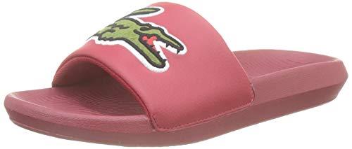 Lacoste Croco Slide 319 4 Us Cfa, Sandalias de Punta Descubierta para Mujer, Rojo Red/Green T2q, 38...