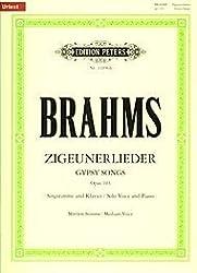 8 Zigeunerlieder aus op. 103 / URTEXT: GYPSY SONGS / Mittlere Singstimme und Klavier