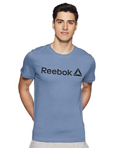 Reebok Herren Qqr Linear Read Hemd, Mehrfarbig (blusla), L