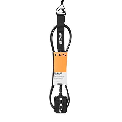 FCS Surfboard Leashes - FCS Regular Black Leash