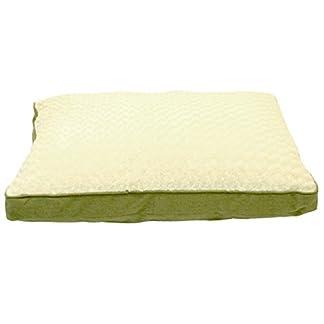 Animate Luxury Swirl Fur/Canvas Box Bed, Small, Green 31YxUzjcnqL