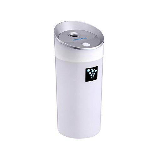 Mini USB Humidifier, TEMPOCar Humidifier 300ML Mini Ultrasonic Baby Air Purifier USB Travel Portable Refresher for Driving Home Baby Room Bedroom with Automatic Shut-off Night Light-White