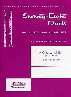 78 DUETS 1 - arrangiert für Querflöte - Klarinette [Noten / Sheetmusic] Komponist: VOXMAN HIMIE - FL KLAR