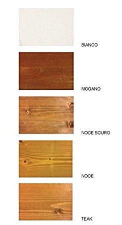 Pergola addossata 4x3 in legno lamellare impregnato in autoclave ...