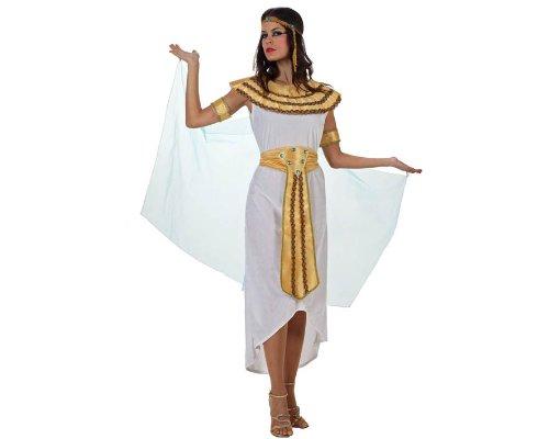 Atosa-70052 Disfraz Egipcia, Color Blanco, XS-S (70052)
