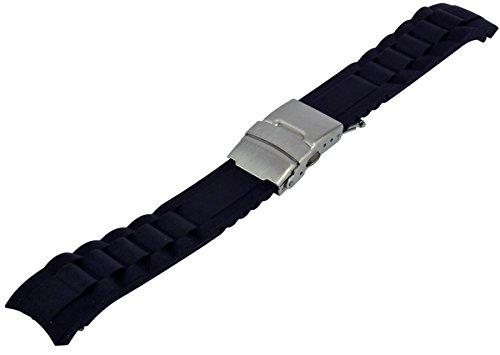Taucher Silikon Uhrenarmband 20mm Faltschließe Divers Strap Armband Rundanstoß