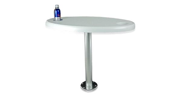 Tisch Mit Festem Tischbein 80 Cm Und Getränkehaltern Sport Freizeit